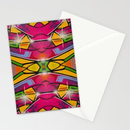 Abstract graffiti 3 Stationery Cards