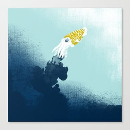 Intelligent Inker - Cranky Cuttlefish Canvas Print