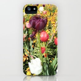 Flower Schadows iPhone Case