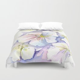 Cherry Blossoms Flowers Spring Floral Duvet Cover