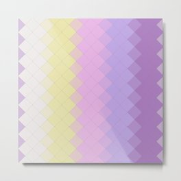Abstract Geometric 3d tiles with Unicorn Colors design Metal Print