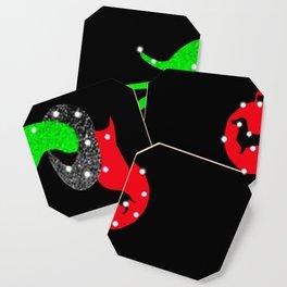 Grinch Hand Holding Dachshund Christmas Coaster