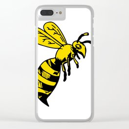 Yellowjacket Wasp Drawing Clear iPhone Case