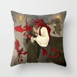 Dashing Demon Throw Pillow
