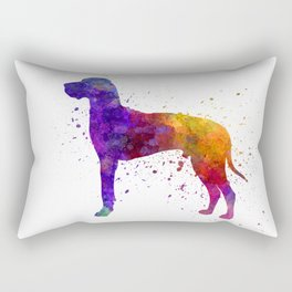 Great Dane 01 in watercolor Rectangular Pillow