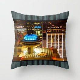 Yesterday's Future - Classic Atlanta Skyline At Night Throw Pillow