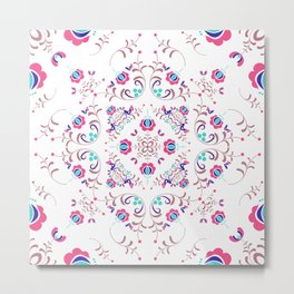 FOLK PATTERN #society6 Metal Print
