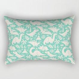 Delightful Dinos (teal) Rectangular Pillow