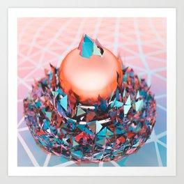 Crystal Coating Art Print