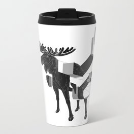 moose_deconstructed Metal Travel Mug