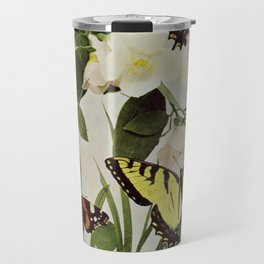 Vintage Butterflies in Nature Illustration (1899) Travel Mug
