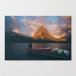 Swiftcurrent Lake Canvas Print
