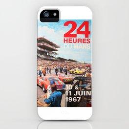 Le Mans 1967, 24hs Le Mans, 1967, original vintage poster iPhone Case
