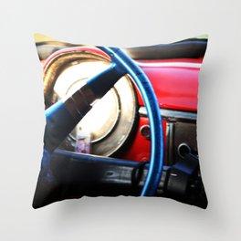 Car Drive in Cuba Throw Pillow