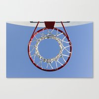 basketball Canvas Prints featuring Basketball by www.sfbild.se