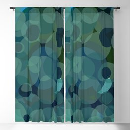 Abstract pop pattern drops of water Blackout Curtain