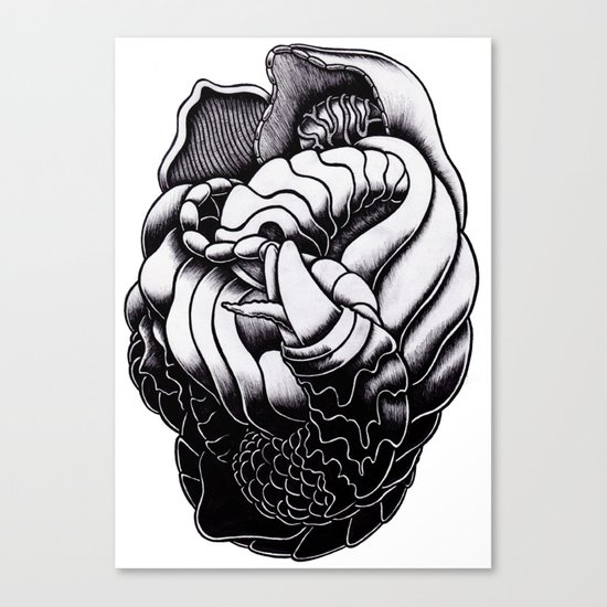 Perverted Canvas Print