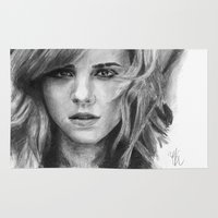 hermione Area & Throw Rugs featuring Emma Watson by xDontStopMeNow