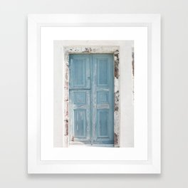 Santorini Doors Framed Art Print