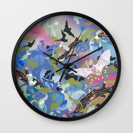 Illuminated Bat Wall Clock