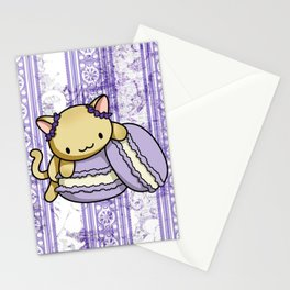 Macaron Kitty Stationery Cards