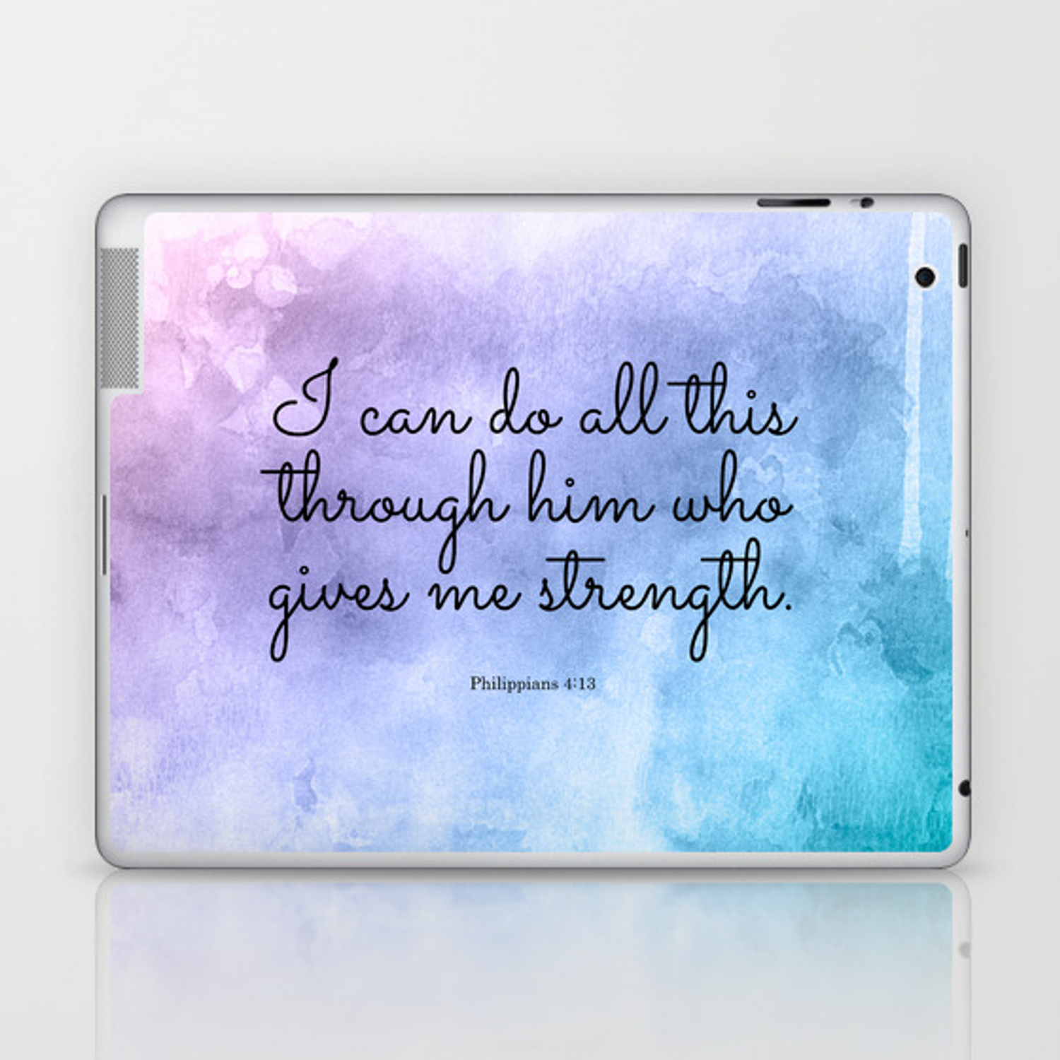 Philippians 4 13 Inspiring Bible Verse Laptop Ipad Skin By Studiocitrine Society6