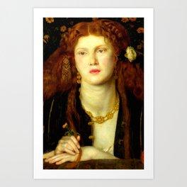 """Dante Gabriel Rossetti """"Bocca Baciata"""" Art Print"""