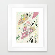 Pizza Riders Framed Art Print