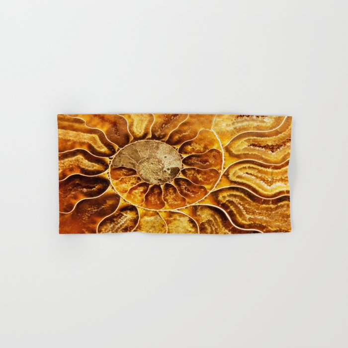 AMAZING AMMONITE Hand & Bath Towel
