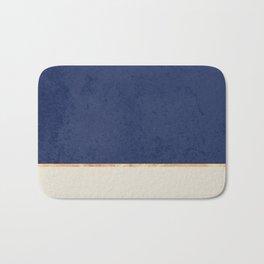 Navy Blue Gold Greige Nude Bath Mat