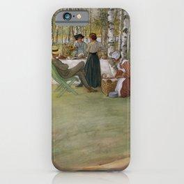 Carl Larsson - Breakfast In The Open iPhone Case