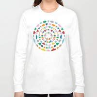 wine Long Sleeve T-shirts featuring Wine O'Clock by Project M