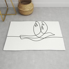 Bird Flying Continuous Line Rug