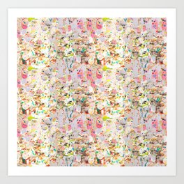 Abstract Springtime Watercolor Pattern Art Print