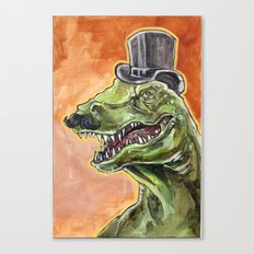 Dapper Dino Canvas Print