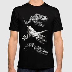 Jurassic Bloom. MEDIUM Black Mens Fitted Tee