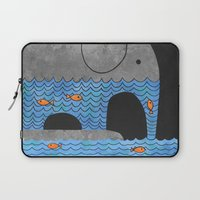 elephant Laptop Sleeves featuring Thirsty Elephant  by Terry Fan