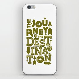 Army Green Journey Quote iPhone Skin