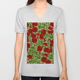 Painting the Roses Red Unisex V-Neck