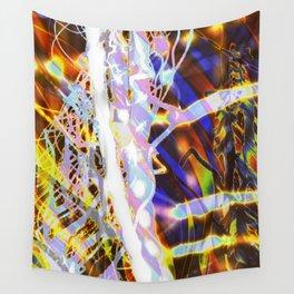 Light Dance - Rainbow Light Painting Wall Tapestry