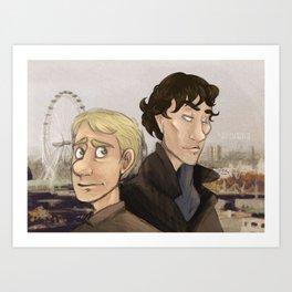 Sherlock and Watson. Art Print