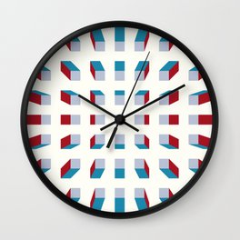 Depth perception - zoom out Wall Clock
