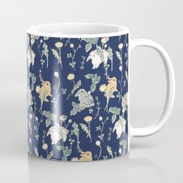Spring Garden - navy blue Coffee Mug
