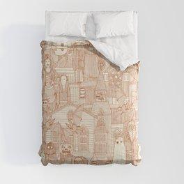 vintage halloween rust ivory Comforters