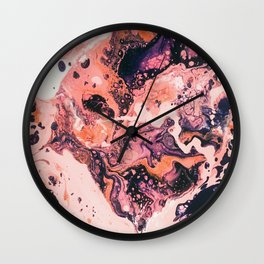 Paint Puddle #21 Wall Clock