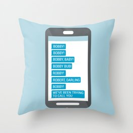 Company Phone Messages Throw Pillow