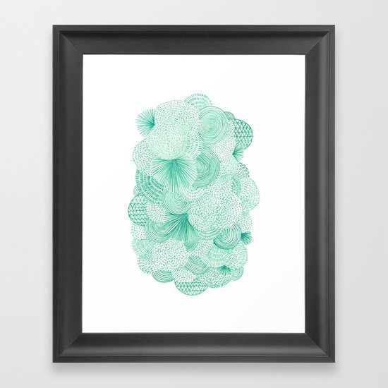 Green Fields Framed Art Print