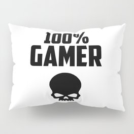 gamer logo and quote Pillow Sham
