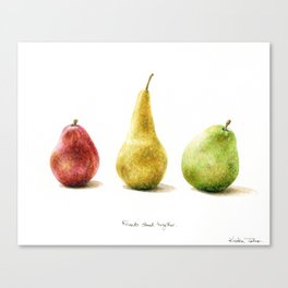Pears - Friends stand together Canvas Print