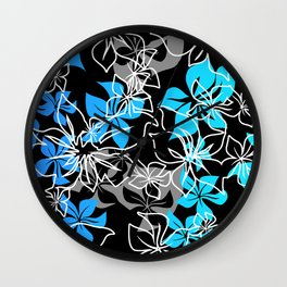 Dancing Hibiscus Hawaiian Aloha Shirt Print Wall Clock